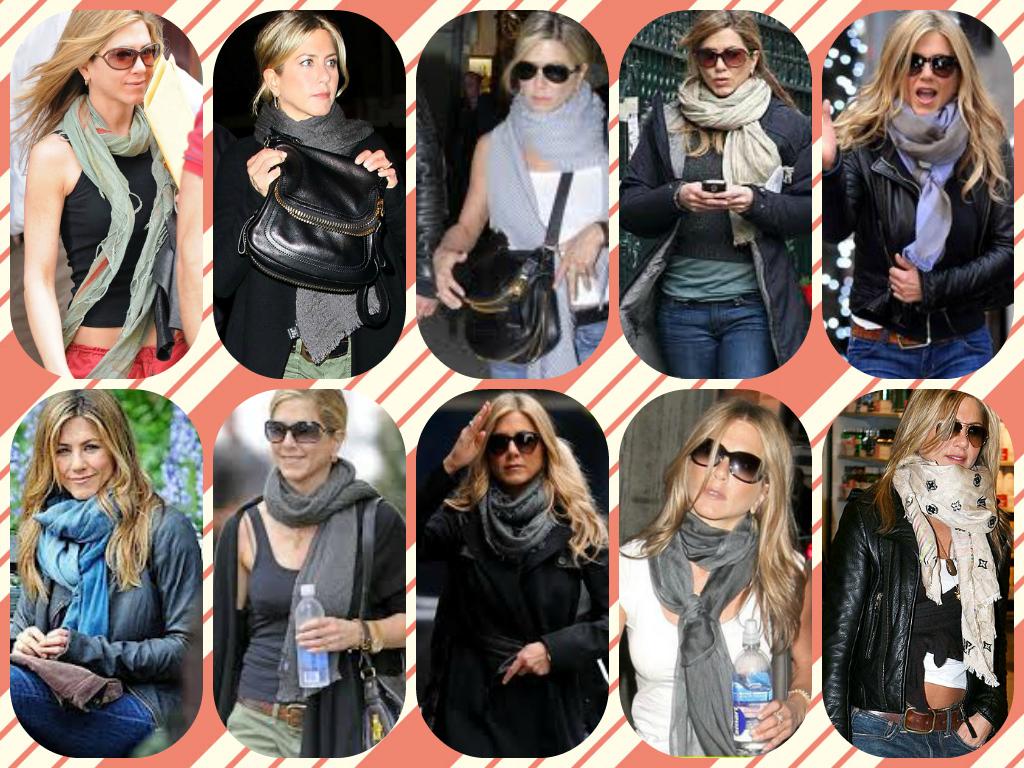 Style Your Mufflers Like Jennifer Aniston Damsel In Vogue Miss Yuva